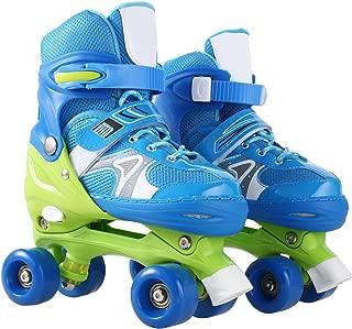 ANCHEER Roller Skates for Kids Adjustable Size PVC Wheel Triple Lock Mesh Breathable Roller Skates for Beginners Children Boys and Girls