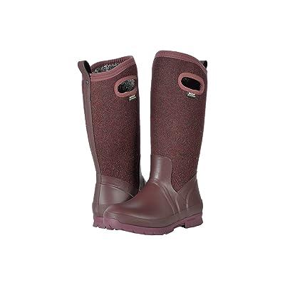 Bogs Crandall Tall Wool (Plum) Women