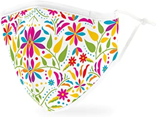 Weddingstar 3-Ply Adult Washable Cloth Face Mask Reusable and Adjustable with Filter Pocket - Fiesta Floral