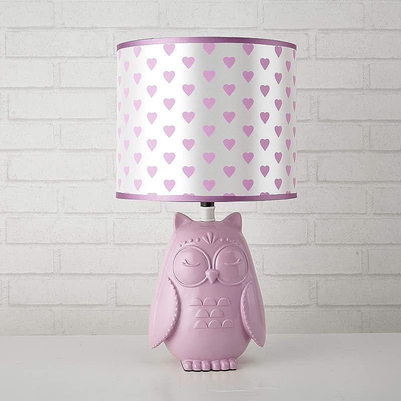 Heritage Kids 784857732740 Owl Table Lamp Purple