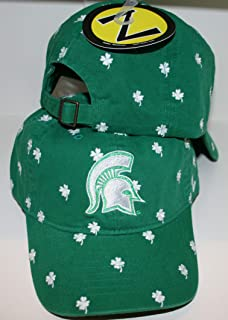Michigan State University MSU Spartans Green Unstructured 100% Washed Cotton Charmed Top Adult Men/Womens Adjustable Baseball Cap/Hat