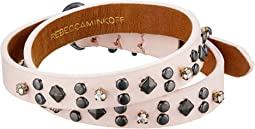 Rebecca Minkoff - Studded Double Wrap Leather Bracelet