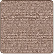 House, Home and More Skid-Resistant Carpet Indoor Area Rug Floor Mat - Praline Brown - 3 Feet X 3 Feet