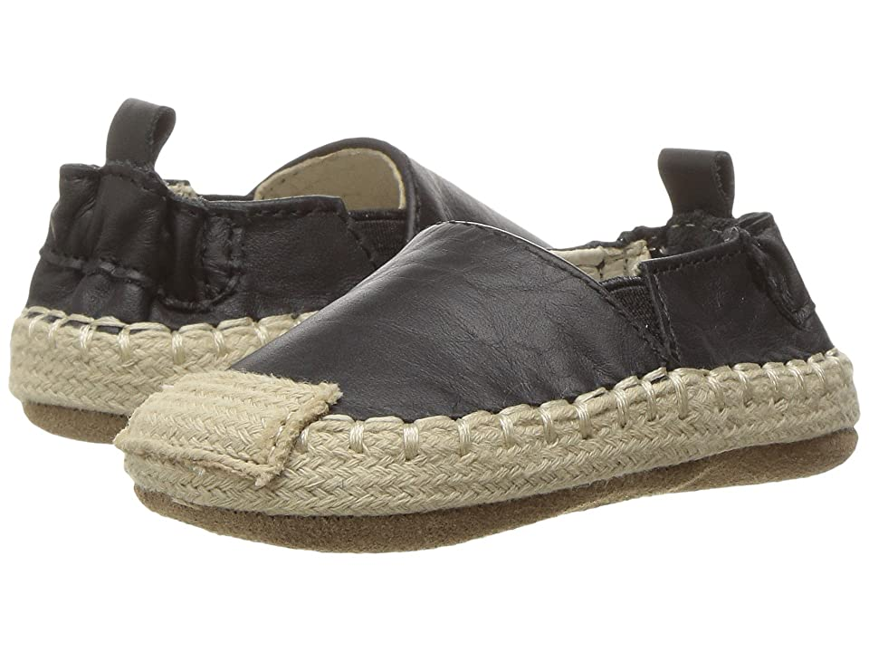 Robeez Ellie Espadrille First Kicks (Infant/Toddler) (Black) Girl