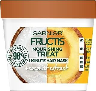Garnier Fructis Nourishing Treat 1 Minute Hair Mask, 3.4 Fl Oz (Pack of 1) - Coconut