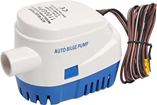 Amarine Made 12V Automatic Submersible 1100GPH Boat Bilge Water Pump Auto with Float Switch-New (Current 3.8A)