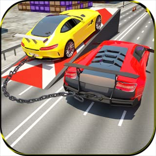 Chained Cars Impossible Speed Racing Chained Break Driving: Rapid Stunt Extreme Bikes Challenge on City Traffic 2018 Racer...