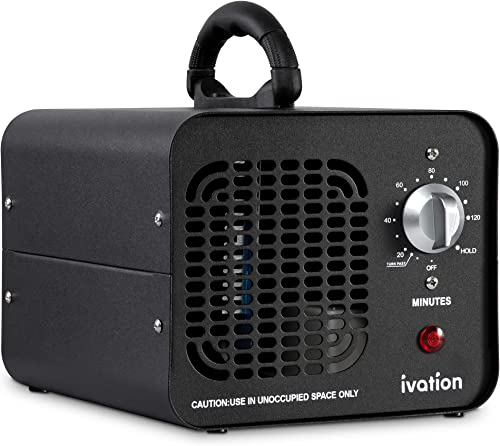 new arrival Ivation 10,000 online MG/Hour Ozone Generator   Compact Ozone Machine for Large Rooms Up to 5,000 Square Feet sale   Powerful Long-Lasting Ceramic Plates, Programmable Timer, Washable Pre-Filter & Carry Handle outlet sale