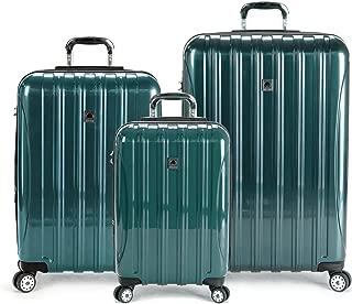 Delsey Luggage Helium Aero 3 Piece Spinner Luggage Set (Teal)
