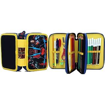 Astuccio BATMAN colore nero con tre zip contenente accessori