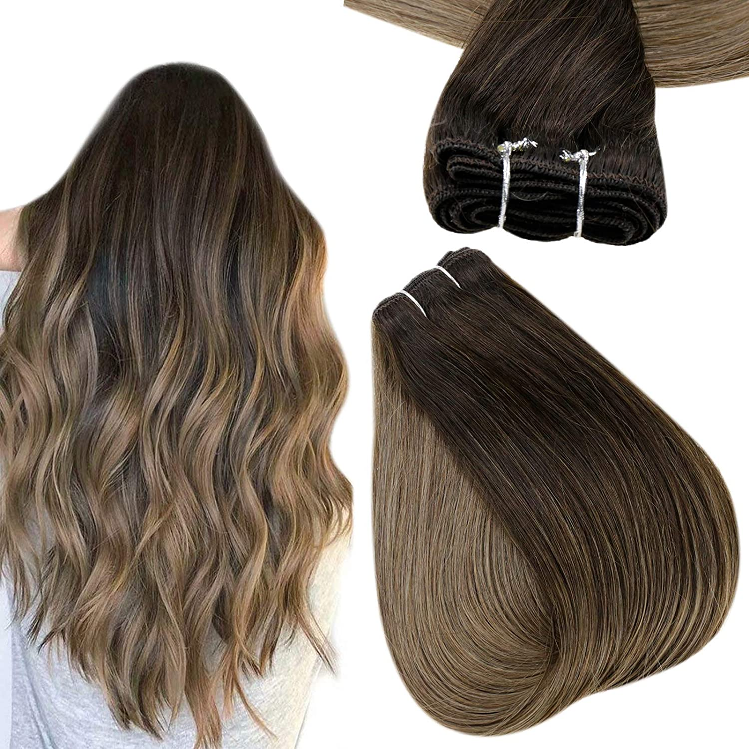 Complete Free Shipping Easyouth Sew in Hair Extensions C Human Real Balayage Super beauty product restock quality top Ombre