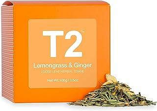 T2 Tea Lemongrass and Ginger Loose Leaf Herbal Tea in Box, 3.5 Ounce (100g)