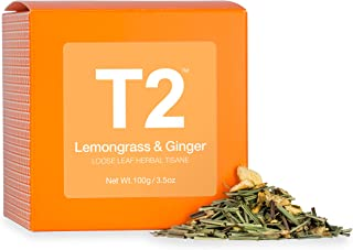 T2 Tea - Lemongrass and Ginger, Loose Leaf Herbal Tea in Box, 100g (3.5oz)
