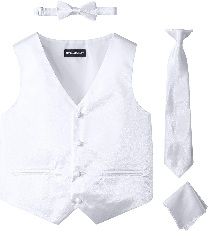 Wholesale American Exchange Big Boys' free Boys Set 4 Piece Vest Satin