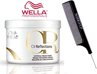 Wella OIL REFLECTIONS Luminous Reboost MASK (with Sleek Steel Pin Tail Comb) Masque (16.9 oz / 500 ml)