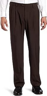 Men's eCLo Stria Expandable-Waist Pleat-Front Dress Pant