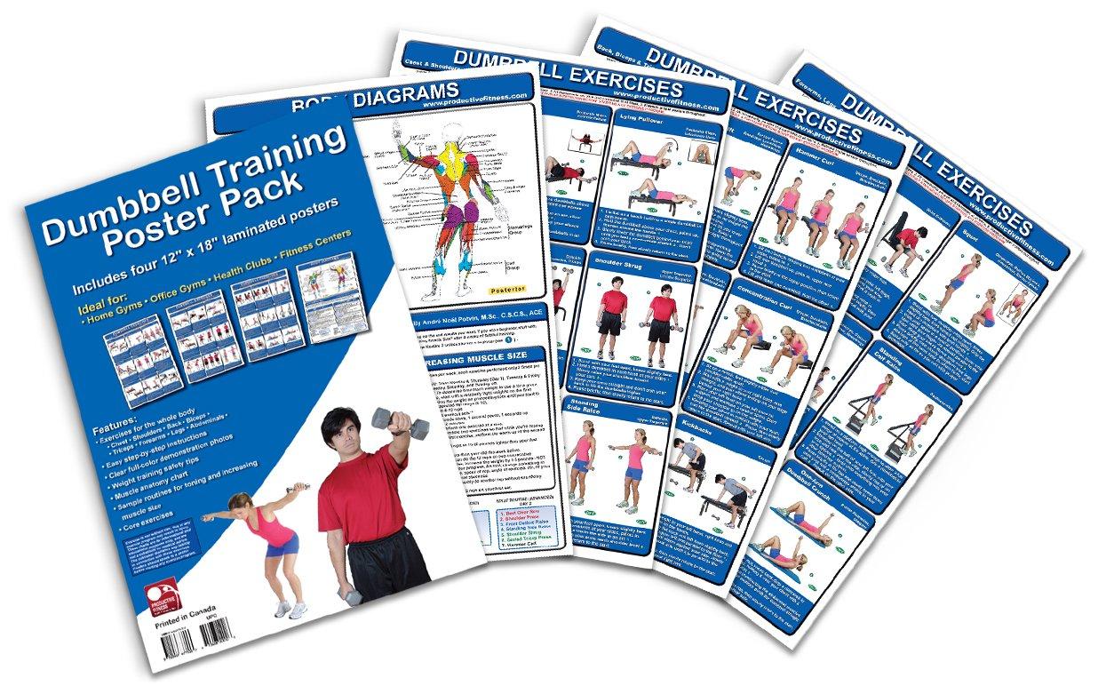 Dumbbell Training Poster Pack Exercises