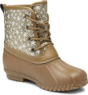 girls glitter duck boots
