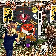Qpout Juegos de Fiesta de Halloween para niños, Juegos de Lanzamiento de Bolsas de Frijoles de Calabaza Juegos de Lanzamiento de Halloween Interior al Aire Libre