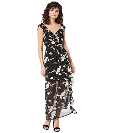 Bardot Embroidery Dress (Black) Women