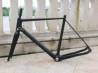 xingbikes Full Carbon Toray Matt Cyclocross Bike Frameset Disc Brake BB30 Frame 49cm 12 142mm Thru Axle + Bicycle Fork 15 100mm Thru Axle