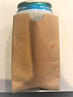 Marquetti Sippy Sack Brown Paper Bag Koozie