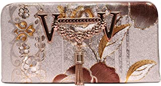 INNERCITY DRN 3D Floral Design Women's Wallet Clutch Purse