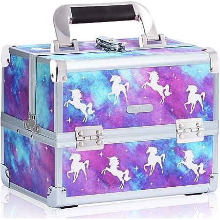 Nahuel Home para cremas para cosm/éticos Caja de Maquillaje joyero Mujer Caja joyero de bamb/ú con Espejo Organizador de Maquillaje con Espejo Caja Maquillaje con Compartimentos para Joyas
