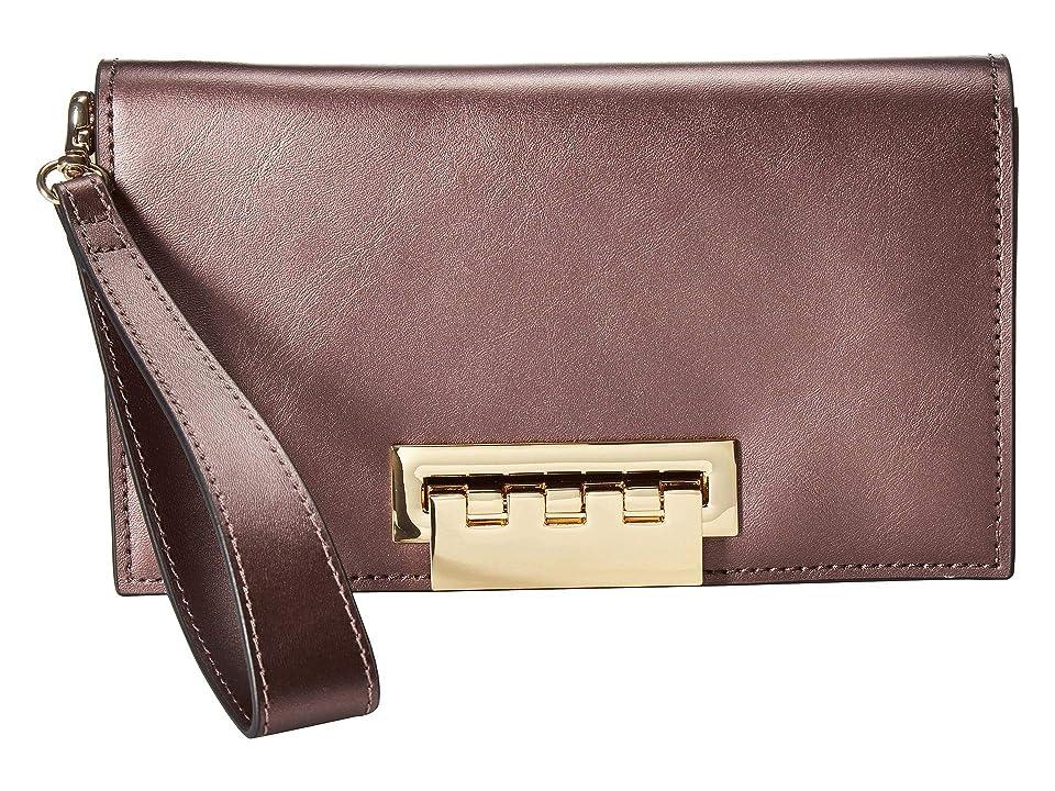 ZAC Zac Posen Earthette Clutch (Gilded Fig Metallic) Clutch Handbags, Pink