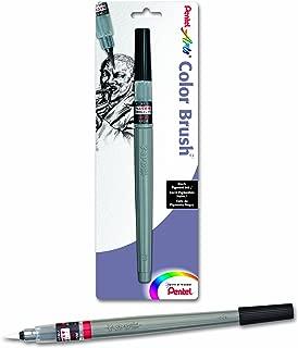 Pentel Arts Color Brush with Pigment Ink, Medium Tip, Black Ink, Pack of 1 (FP5MBPA)