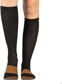 Calcetines de compresion (par) Medias diseñadas para mejorar la circulacion, reducir la hinchazón, aiviar los síntomas de varices reducir la fatiga y energizar pies y piernas cansadas   Unisex
