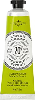 La Chatelaine 20% Shea Butter Hand Cream Lemon Verbena, Organic Argan Oil, Moisturizing, Nourishing, Repairing Hand Care, Extra Rich, Non-Greasy, Made in France, Paraben Free,Travel Size 1 fl oz