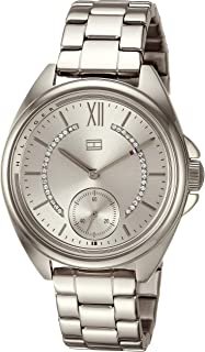 Tommy Hilfiger Women's Quartz Watch with Stainless-Steel Strap, Silver, 16 (Model: 1781987)