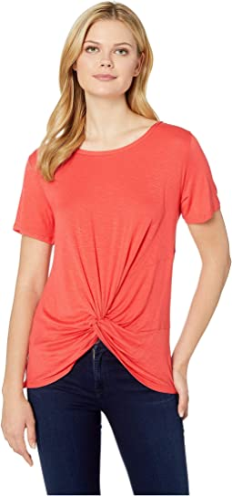 Short Sleeve Twist Front Top