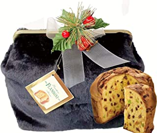 FLAMIGNI Italian Panettone Gourmet Bread Cake In Faux-Fur Bags With Metal Chain, Assorted, 750 gm