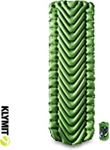 KLYMIT STATIC V Sleeping Pad, Lightweight, Outdoor Sleep Comfort Best for Backpacking, Camping, and Hiking, Inflatable Camp Sleep Pad