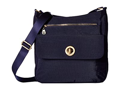 Baggallini Antalya Top Zip Flap Crossbody (Navy) Cross Body Handbags