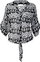 Kaya Di Koko Womens Tie Top Black/White Medium