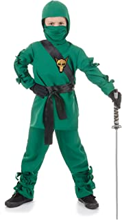 Underwraps Costumes Children`s Green Ninja Costume, Small 4-6 Childrens Costume