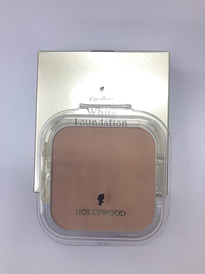 モニター廃止検証ハリウッド化粧品 エクセレント ホワイト ファンデーション 20 (パフ付き,ケース別売)