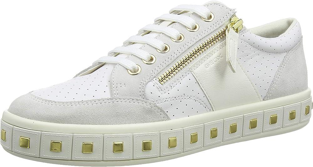geox scarpe da ginnastica donna sneakers in pelle d94ffe08522