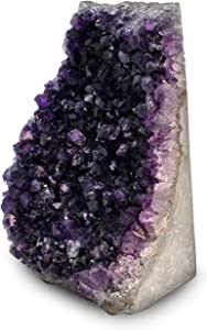 EMPORION Natural Amethyst (3 lb to 4 lb) Crystal Clusters Stone from Uruguay Raw Geode Quartz - Deep Purple Color