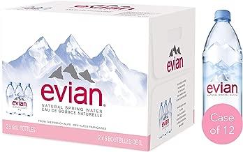 Evian Natural Mineral Water, 12 x 1L Bottles