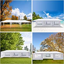 10' x 30' Heavy Duty Outdoor Party Wedding Event Tent Camping Shelter Gazebo Canopy - Heavy Duty Gazebo Pavilion with Remo...