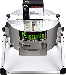 Risentek Electric Bud Leaf Trimmer Machine Model-XLE 16-inch Automatic Open Top Hydroponic Bowl Trim Reaper Spin Cut Plant Bud and Flower