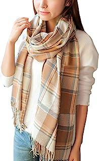 روسری زنانه بزرگ Wander Agio Shall Long Grid روسری بزرگ گرم