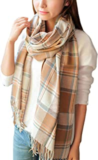 Women's Fashion Long Shawl Big Grid Winter Warm Lattice Large Scarf