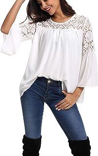 00aebecd1505 Suchergebnis auf Amazon.de für: weisse bluse mit spitze: Bekleidung