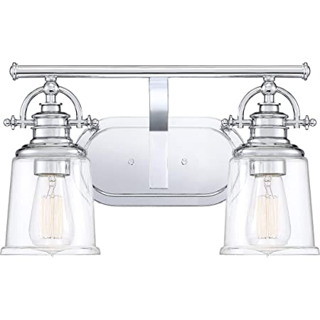 Quoizel Grt8602c Grant Vanity Bath Lighting 2 Light 200 Watts Polished Chrome 10 H X 16 W