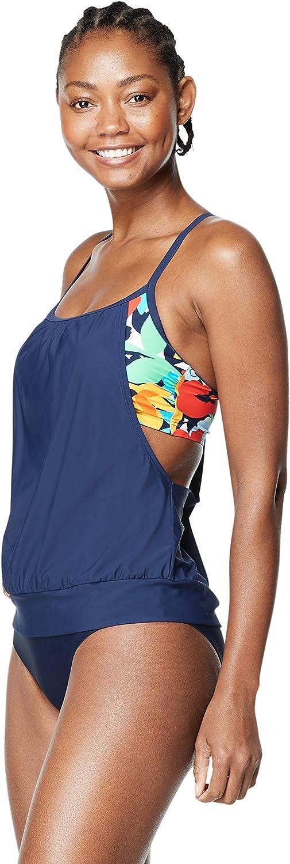 Speedo Womens Swimsuit Top Tankini PowerFlex Blouson - Manufacturer Discontinued
